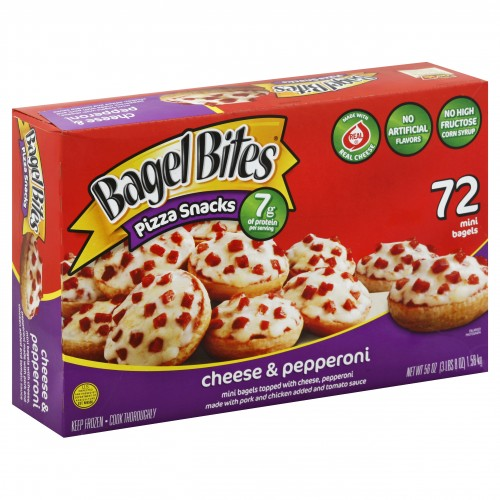 Ore Ida Bagel Bites Pizza Snacks Cheese & Pepperoni