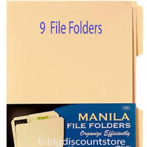 Bazic 1/3 Cut Letter Size Manila File Folder