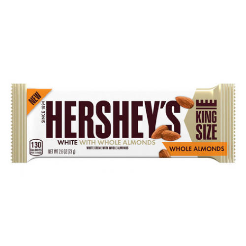 Hershey's White With Whole Almonds King Size