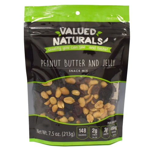 Valued Naturals Peanut Butter And Jelly 7.5OZ.