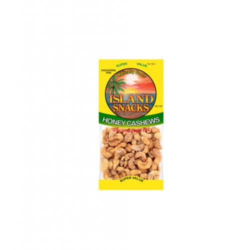 Island Snacks Honey Cashews 2.25oz.