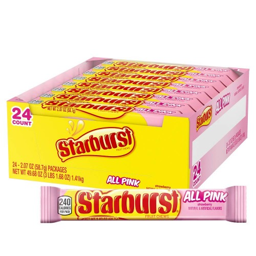 Starburst All Pink  Fruit Chews Candy