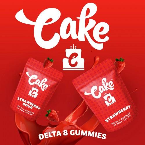 Cake Delta 8 Gummies 500mg Strawberry Sour