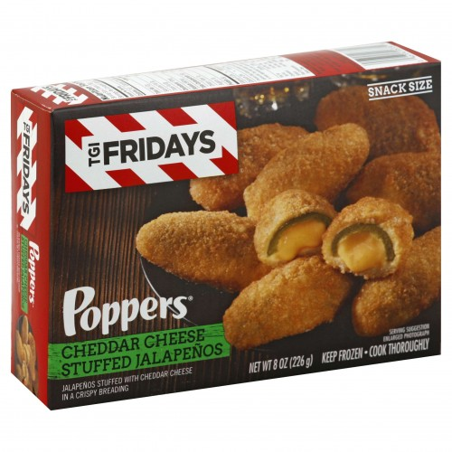 TGI Fridays Poppers Cheddar Cheese Stuffed Jalapenos