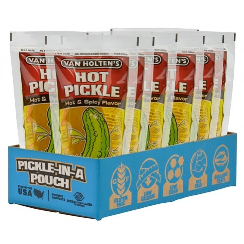 Pickle in a Pouch VAN HOLTENS Jumbo HOT PICKLE 12/1ct