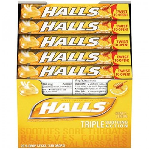 Halls Honey Lemon Drops