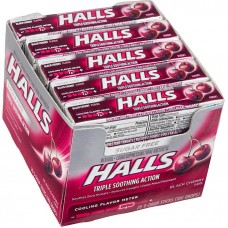 Halls Black Cherry Sugar Free Drops