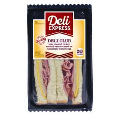 Deli Express Mega Hickory Smoked White Turkey & Cheese
