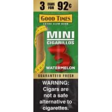 Good Time Cigarillos Mini Pouches Watermelon 3 For 92¢