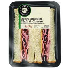 Deli Express Black Forest Ham & Cheese Mega Wedge Sandwich