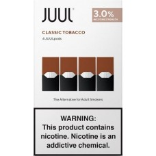 JUUL PODS CLASSIC TOBACCO 3% 4 pack