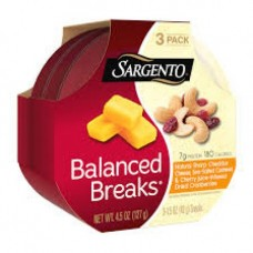 Sargento Balanced Breaks Natural Double Cheddar Cheese With Cranberries And Walnuts