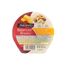 Sargento Balanced Breaks Sharp Cheddar Cheese Cashews And Dried Cranberries Snack