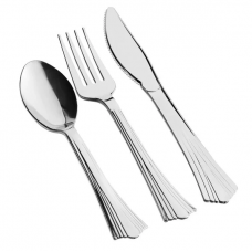 Silver Knives Forks Spoons Heavy Weight Classic Cutlery