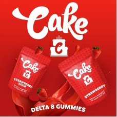 Cake Delta 8Gummies 500mg Strawberry Sour