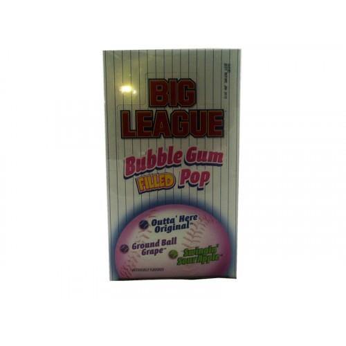 Big League Bubble Gum Filled Pop Sour Apple Original Grape