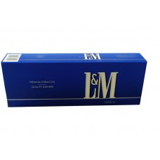 L & M Light Blue 100'S Box