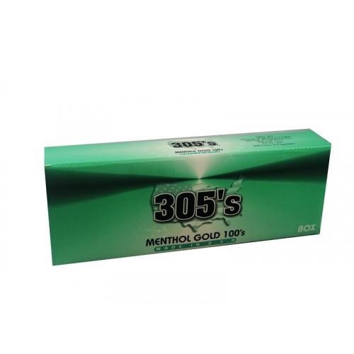305`S Menthol Gold 100'S Box