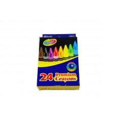Bazic 24 Premium Crayons Colors