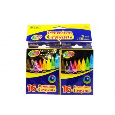 Bazic 16 Color Premium Quality Crayons 2 Pack