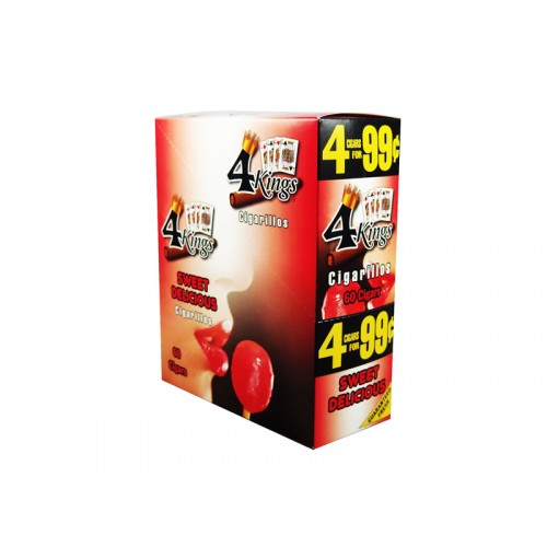 4 Kings Cigarillos Sweet Delicious 4/.99