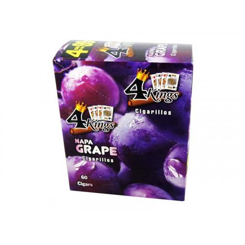 4 Kings Cigarillos Napa Grape 4/.99