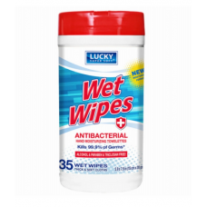 Lucky Antibacterial Wipe cans 35 ct