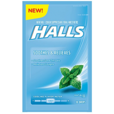 Halls Soothes & Relieves Drops Mint Bliss