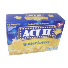 Act II Butter Lover Popcorn 3 ct