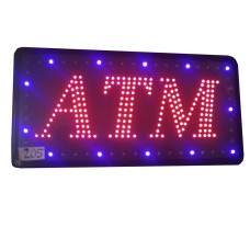 ATM SIGN RED, BLUE 24