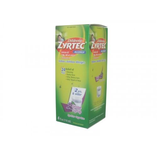 Zyrtec Childrens Allergy Dye Free Grape