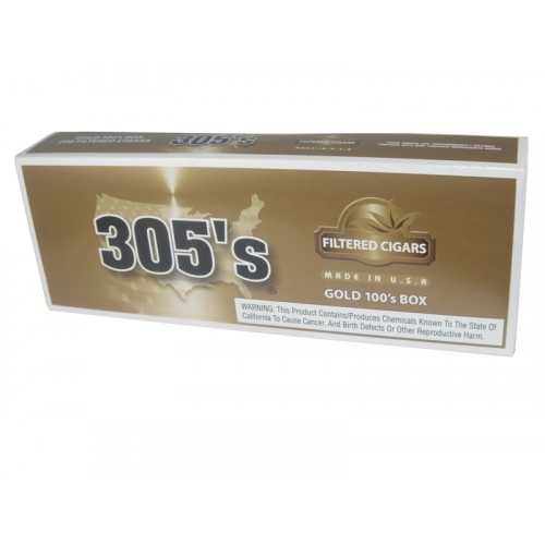305`S Filtered Cigars Gold 100's Box