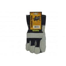 Gloves Half Leather & Cotton