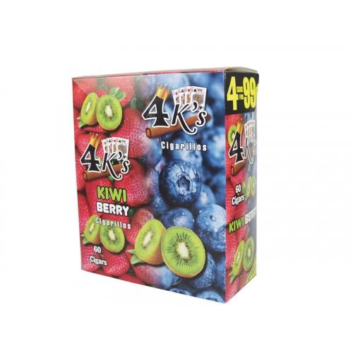 4 Kings Cigarillos Kiwi Berry 4/.99