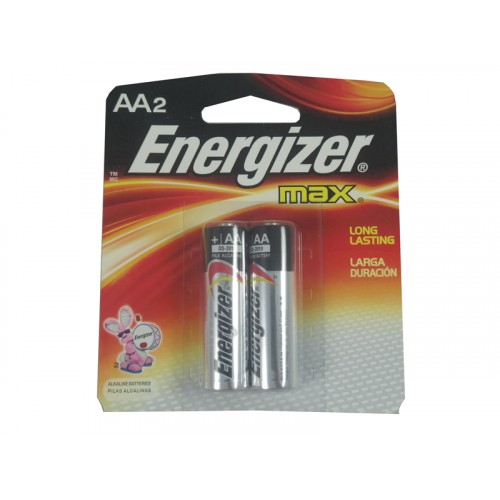 Energizer Battery AA2 Pack U.S.A