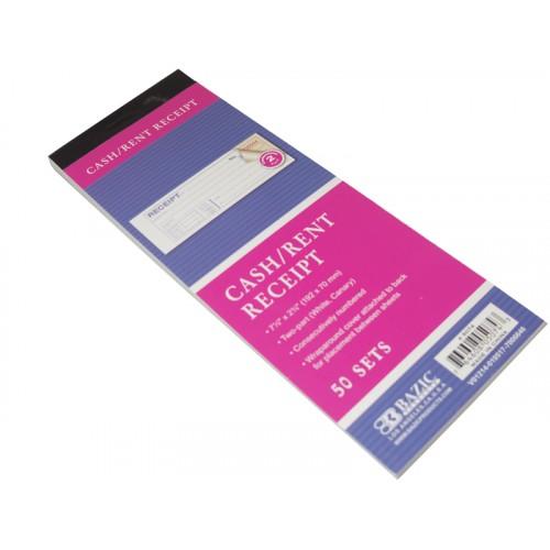 Bazic 50 Sets Cash/Rent Carbonless Receipt Book