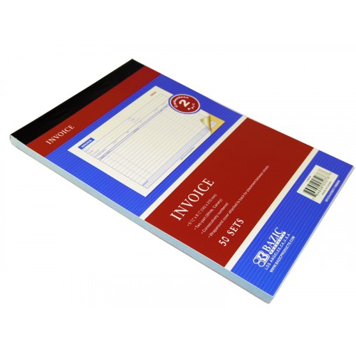 Bazic 50 Sets Invoice with Carbonized White Paper