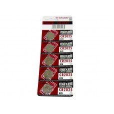 Maxell Battery CR2025 3 Volt Lithium 5 Pk