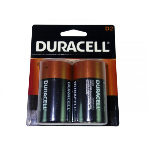 Duracell Battery D 2 Coppertop (USA)