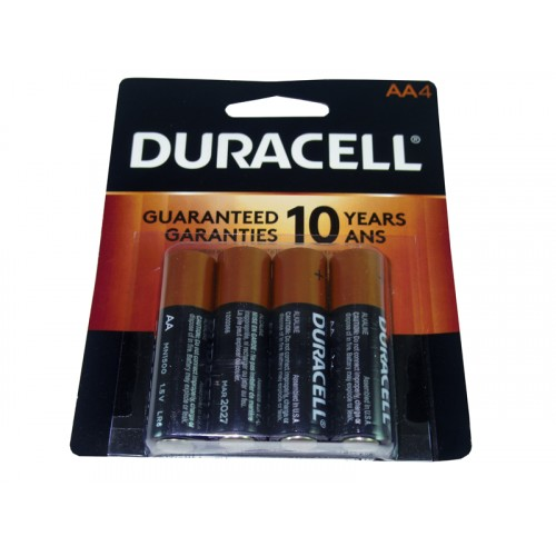 Duracell Battery AA4 Coppertop USA