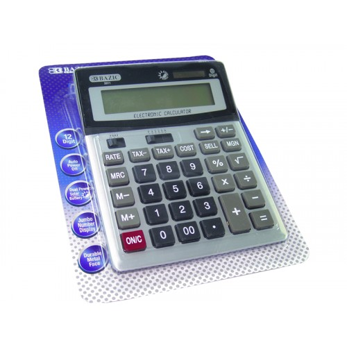 Desktop Calculator w/Profit & Tax BAZIC 12-Digit