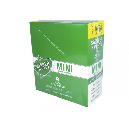 Swisher Sweets Mini 3F2 Cigarillos Green Sweet