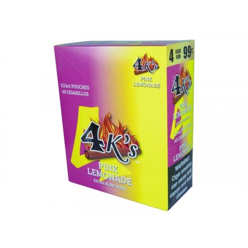 4 Kings Cigarillos Pink Lemonade 4/.99