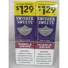 Swisher Sweets Cigarillos 2/1.29 Purple Swish