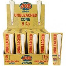 Job Virgin Unbleached Cone  6 Pack 1.25