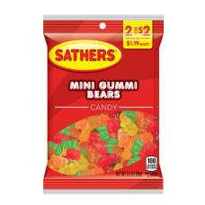 Sathers 2/$2 Mini Gummi Bears