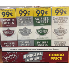 Swisher Sweets Cigarillos $2/ 0.99c Sweet,Diamond Green & Silver combo