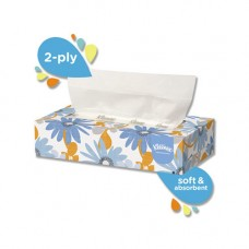Kleenex Facial Tissue, 2-Ply, White, Pop-Up Box, 100 Sheets/Box
