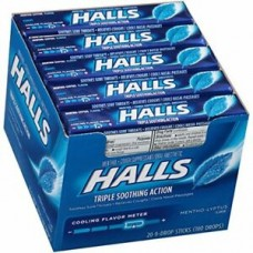 Halls Regular Mentholyptus Drops